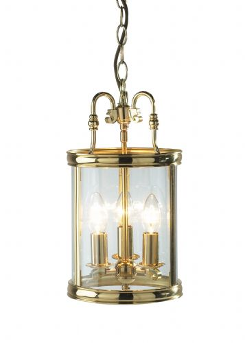 Lambeth 3-light Polished Brass Ceiling Light LAM0340